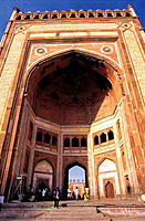 The Buland Darwaza (Victory Gate). Jami Masjid (Great Mosque). Fatehpur Sikri historical site. Southwestern Uttar Pradesh. India