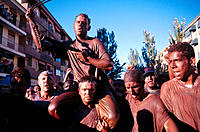 'El Cascamorras', local festival. Guadix. Granada province. Spain