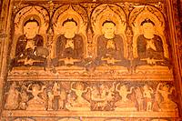 Mural a Paya Thon Zu temple. Bagan. Myanmar