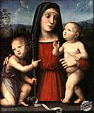 Madonna, Child,  and St. John Giacomo Francia (1486-1557/Italian) Tempera on Wood Panel The Cummer Museum of Art and Gardens, Jacksonville, Florida