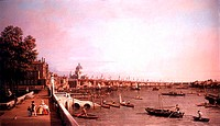 London From Somerset HouseCanaletto (1697-1768 Italian)