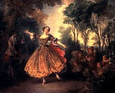 Mademoiselle Camargo Dancing ca 1730 Nicolas Lancret 1690-1743 French Oil on canvas State Hermitage Museum, St  Petersburg, Russia
