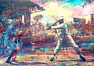 Cool Papa Bell1985Lance Richbourg (b.1938 American)Oil on canvas