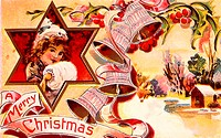 A Merry Christmas 1911 Nostalgia Cards Color lithograph