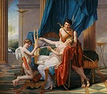 Sappho & Phaon Jacques Louis David 1748_1825/French Hermitage State Museum, Leningrad