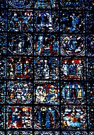 Life of Christ, Detail Chartres Cathedral Stained Glass