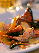 Cooked lobster with pumpkin & potatoes
