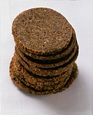 Round slices of Pumpernickel (dark wholemeal bread)