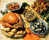 Roast Turkey with Side Dishes