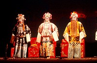 Chinese opera at the Culture park open air theater. Guangzhou. China