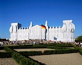Germany, Berlin, Reichstag building, Reichstag wrapping 1995, Wrapping of the Reichstag, by Christo and Jeanne-Claude