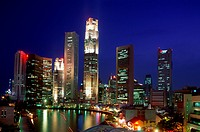 Architecture, Asia, City, Cityscape, Holiday, Landmark, Lights, Night, Singapore, Asia, Skyline, Skyscrapers, Tourism, Travel, V