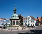 The ´Wasserkunst´. Wismar , Mecklenburg-Western Pomerania. Germany