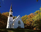 Tygarts Presbyterian Church in autumn. Tygarts Valley. West Virginia. USA
