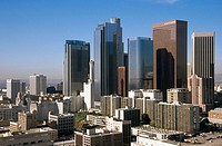 Downtown skyline. Los Angeles. California. USA
