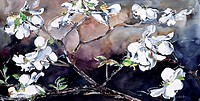 Japanese Magnolia in Dogwood by John Bunker, watercolor, 20th Century, Private Collection
