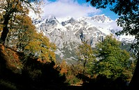 Picos de Europa. View from Liébana, Cantabria. Spain