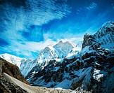 Sacred Peak Kumbhakrama. Jannu North face (7710m). Kangchenjunga. East Nepal