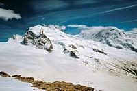 10558073, scenery, Alps, mountains, Dufourspitze, Lyskamm, Monte Rosa, snow, Switzerland, Europe, Valais,