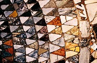 Detail of the marble floor inside St. Mark´s basilica. Venice. Italy