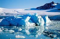 Glacier. Svalbard. Norway
