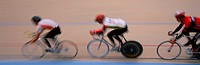 Cyclists Racing on a Track, Panoramic