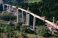 Flyover construction. Euskadi. Spain