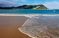 La Concha bay & Monte Igueldo. San Sebastian-Donostia. Guipúzcoa. Euskadi. Spain