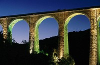 Viaduct of Bramefond. Lot . France