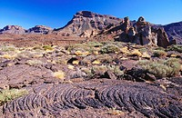 Landscape of Lava at Teide National Park. Tenerife, Canary Islands. Spain