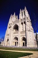 Washington National Cathedral (1893), built in the 14th-century English Gothic style. Washington D.C. USA