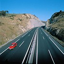 Freeway Bilbao-Behobia. Guipuzcoa. Spain