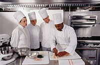 Chef with trainees