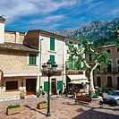 Market Square. Fornalutx. Majorca. Balearic Islands. Spain