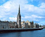 River Tay and city centre. Perth. Perth and Kinross. Scotland