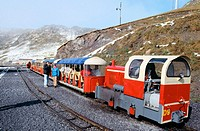 "Touristic train ""Le petit train d'Artouste"". Pyrenees Mountains National Park (Parc National Pyrénées). France"