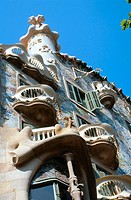 Facade of Batlló House (Gaudí, 1904-1906). Barcelona. Spain