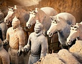 Vaults Of First Emperor Qinshihuang's Terracotta Army. Xi'an. China