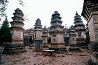 Shaolin Temple and Pagoda Forest, near Luoyang. Henan province. China