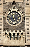 Clock in steeple of Findlater's Church, Dublin, Ireland