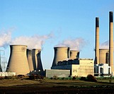 Coal-fired power station near Legos. Yorkshire. England
