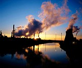 Petrochemical plant at sunset. Grangemouth. Scotland