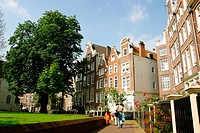 The Begijnhof. Amsterdam. Holland