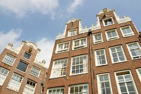 Architecture in the Begijnhof. Amsterdam. Holland