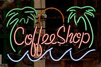 Coffee shop sign. Amsterdam. Holland (thumbnail)