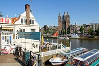 View to St. Nicolaas. Amsterdam. Holland