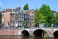 Bridge and canal. Amsterdam. Holland