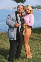 Tinto Brass and Yuliya Mayarchuk. Mostra del Cinema, Venice, 1999