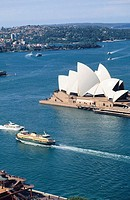 Ferries passing Opera House. Sydney. Australia