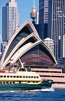 Ferry in front of Opera House. Sydney. Australia